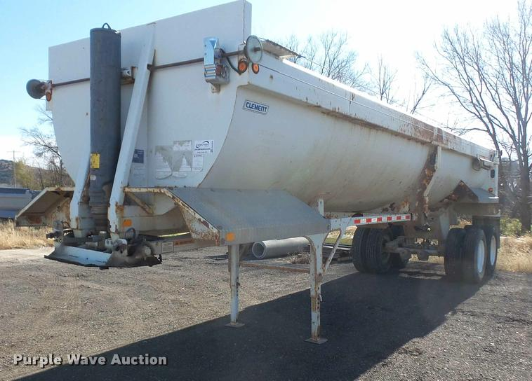 2007 Clement Rockstar barrel bed end dump trailer