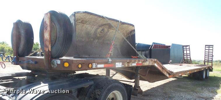 1985 MTBI lowboy equipment trailer