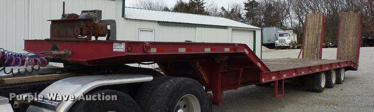 2008 Kaufman drop deck equipment trailer