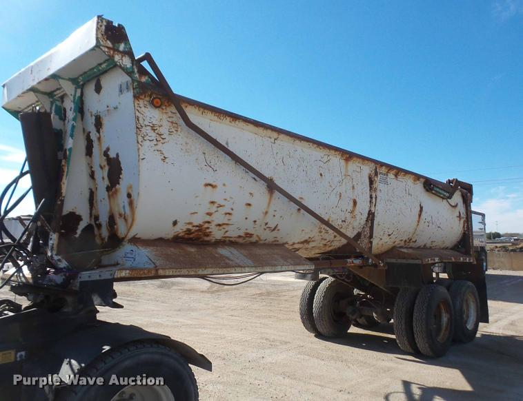 1996 Reliance barrel end dump trailer