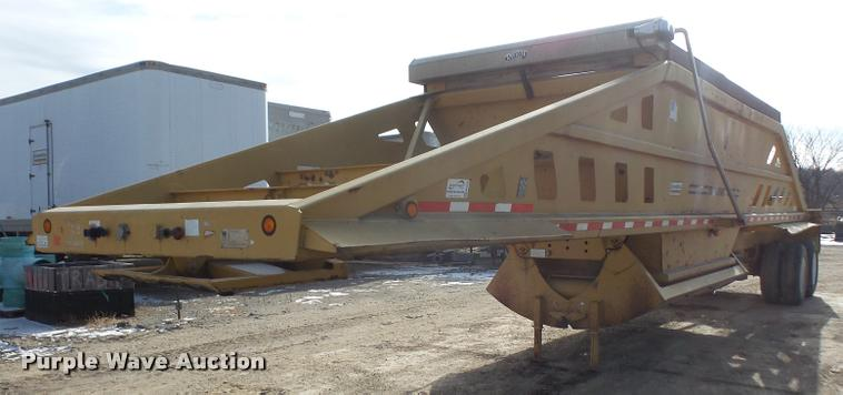 2000 Trail King TK54B00-B2 bottom dump trailer