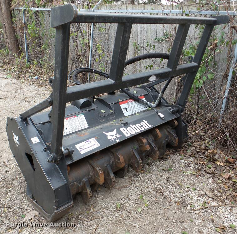 Bobcat skid steer forestry cutter