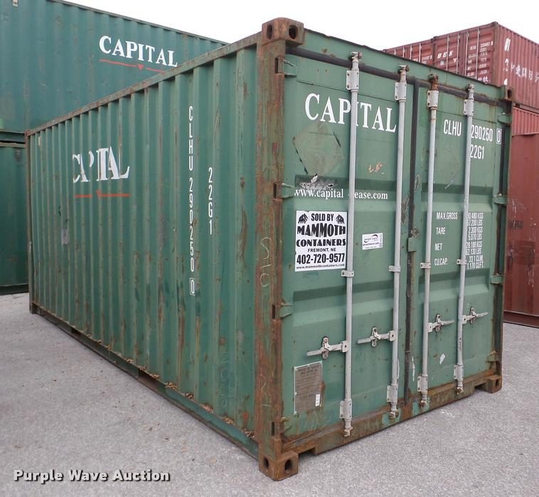 Capital storage container