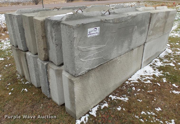 (12) concrete blocks