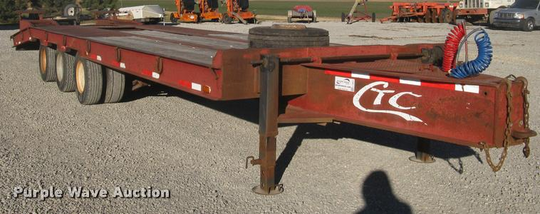 2001 Central equipment trailer