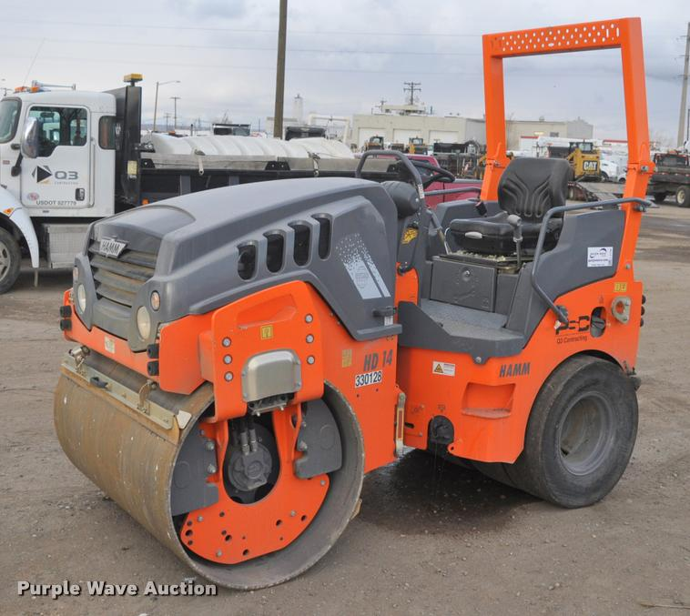 2015 Hamm HD14VT single drum vibratory compactor