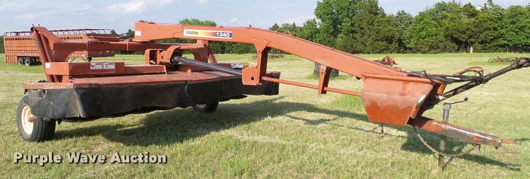ag equipment auction in edna kansas by purple wave auction rh globalauctionguide com Hesston 1340 Disc Mower Parts Hesston 1340 Specifications