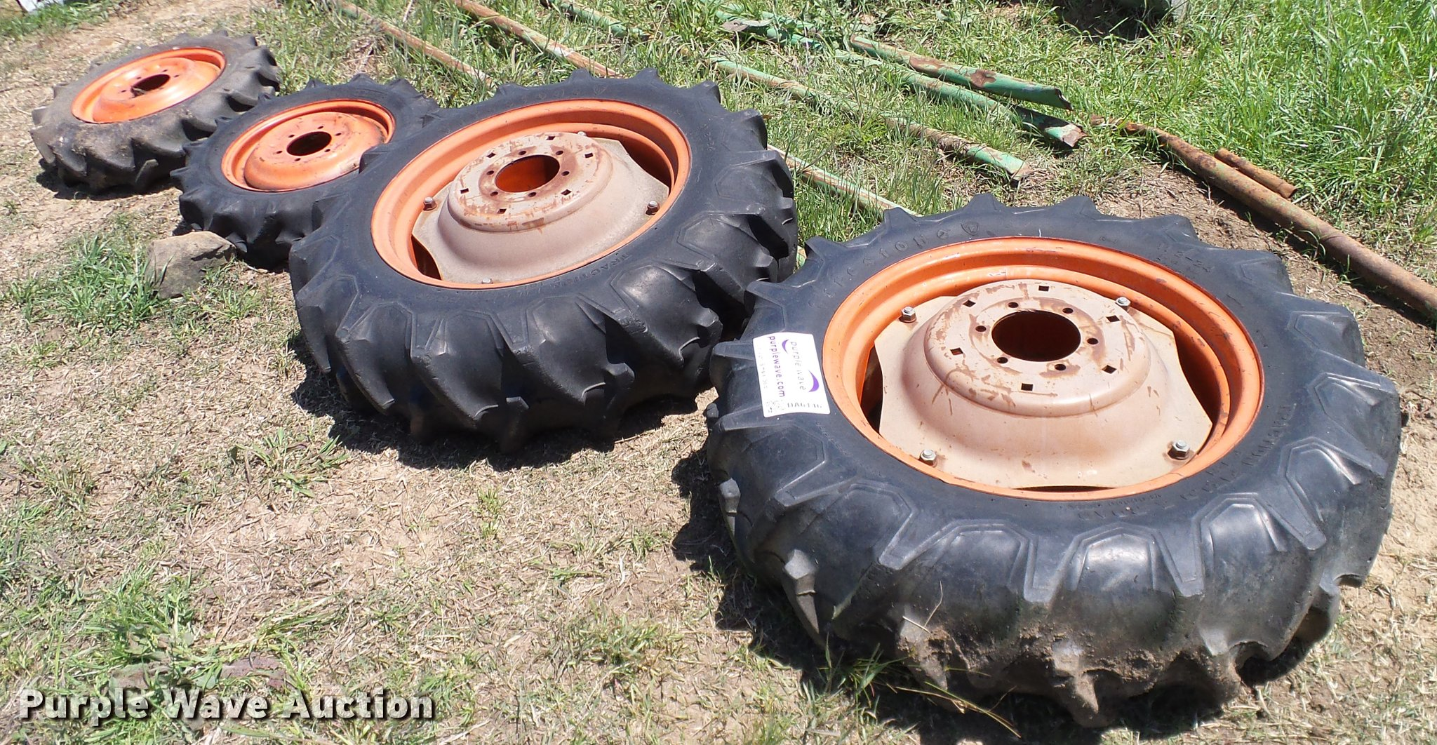 Kubota Tractor Tires And Wheels : Kubota tractor wheels and tires item da sold