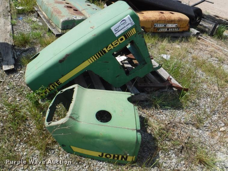 (9) John Deere tractor hoods