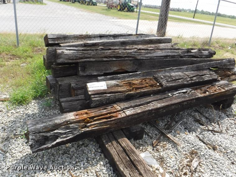 Approximately 114 railroad ties