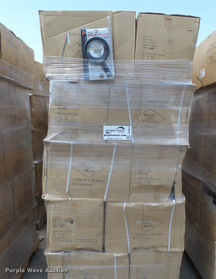 (1,500) Buffalo Tools 12V spotlights