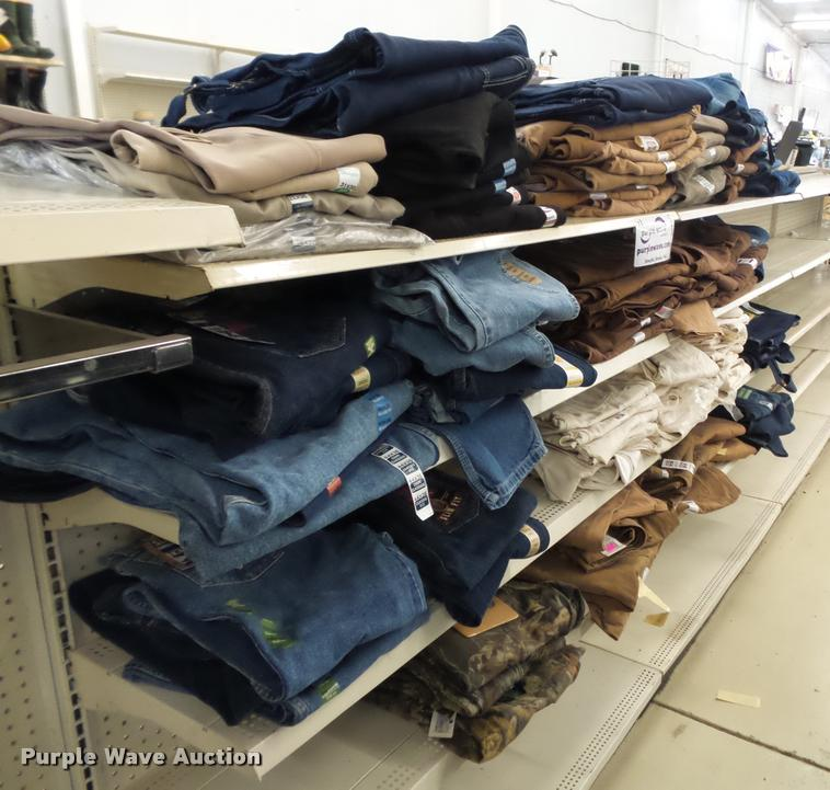 Approx 262 pairs of mens jeans, overalls, painters pants and brown duck pants