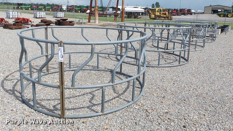 (4) round bale feeders