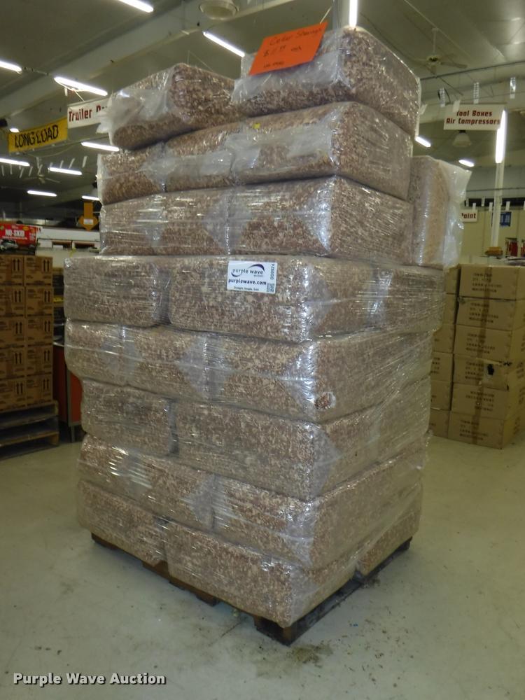 Approximately 68 wood shaving bales