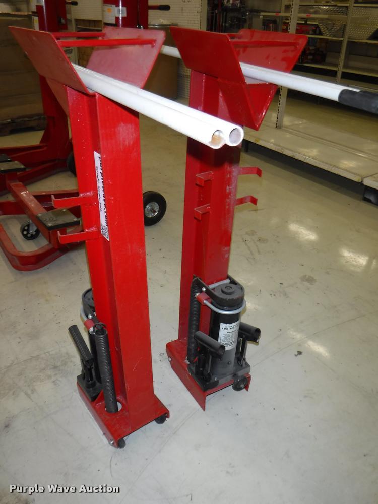 (2) 10 ton manual log splitters