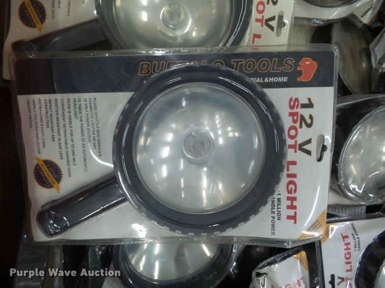Approximately 400 Buffalo Tools 12V spotlights
