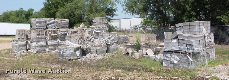 Approximately 60 pallets of landscape blocks