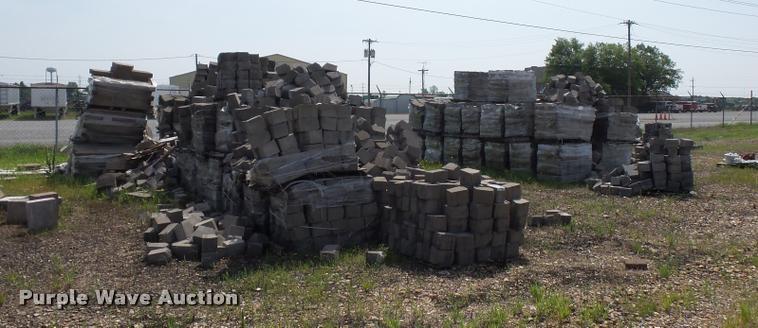 Approximately 90 pallets of landscape blocks