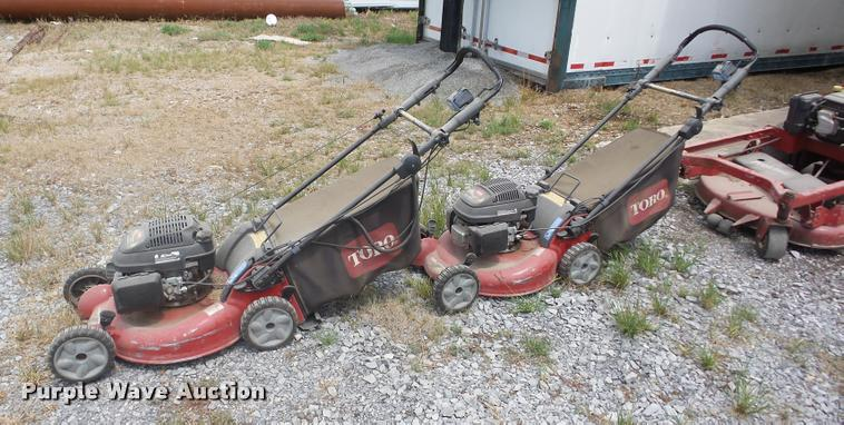 (2) Toro push mowers