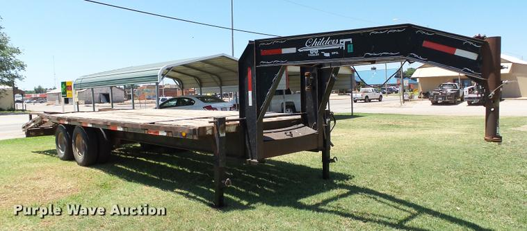 2001 Childers Draglite 25GN equipment trailer