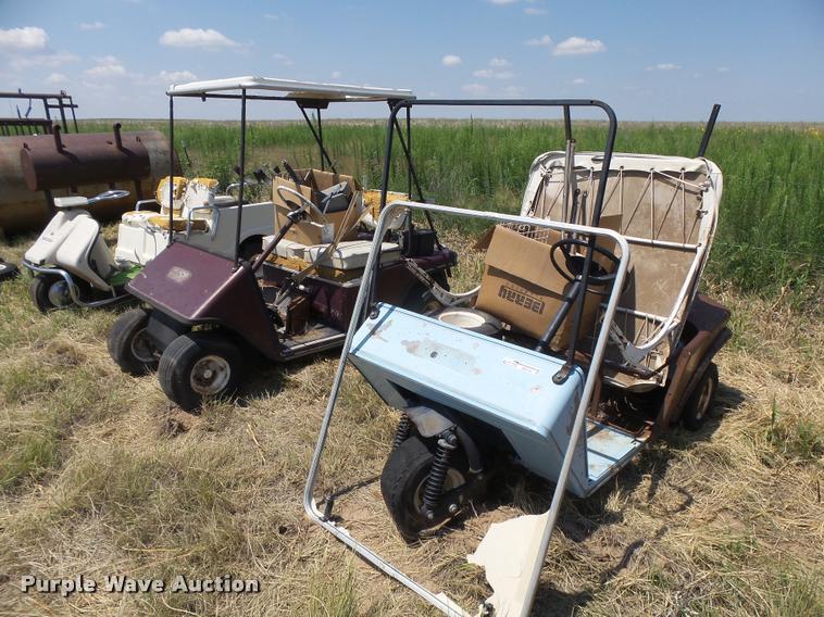 (3) golf carts