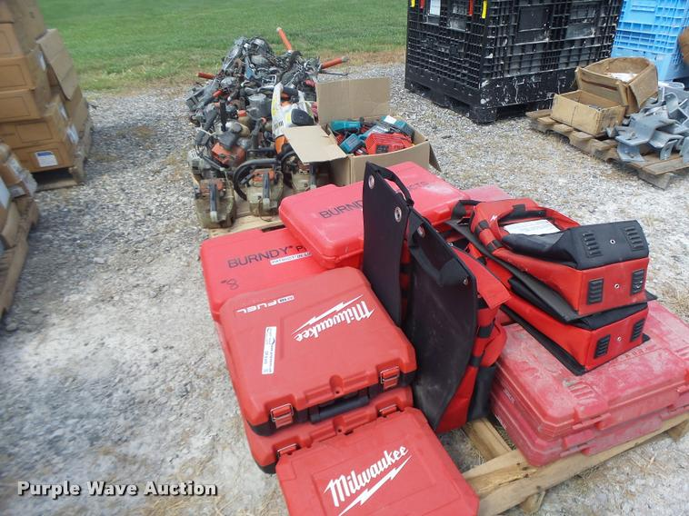 (3) pallets of tools and toolboxes