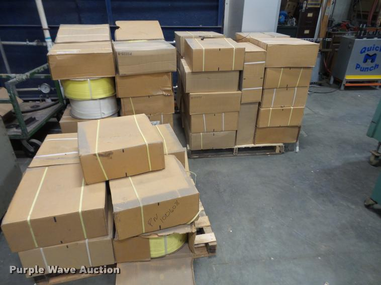 (3) pallets of strapping