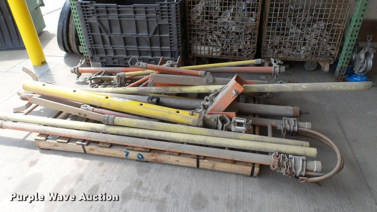 Pallet of pole hardware