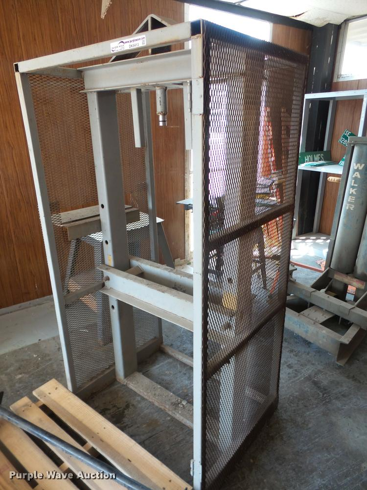 Shop press frame