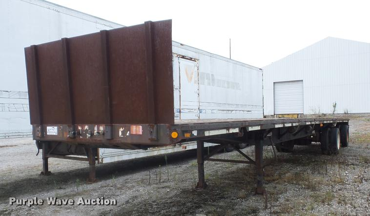 1995 Fontaine FTW-5-8048WSA flatbed trailer