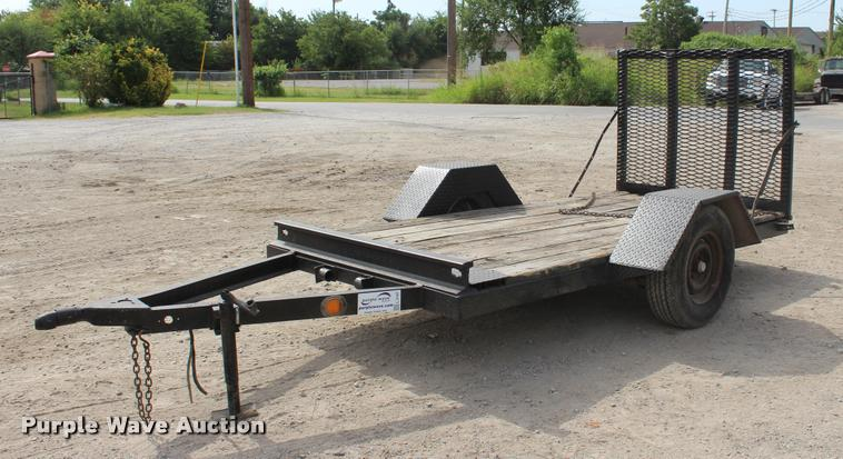 Shop built utility trailer