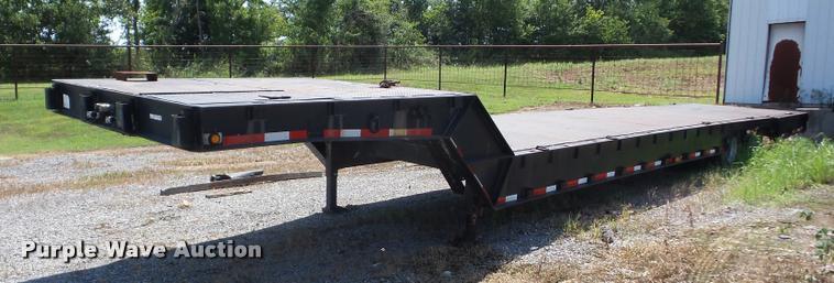 1987 Muvall 4460ST drop deck equipment trailer