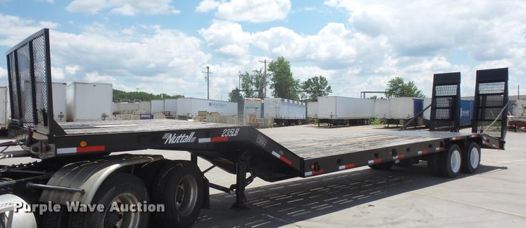 2001 Nuttall 235LBPS drop deck equipment trailer
