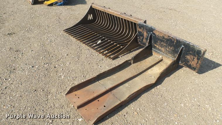 (2) skid steer attachments