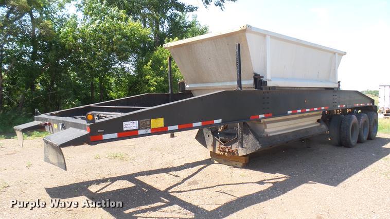 1983 Constructor bottom dump trailer