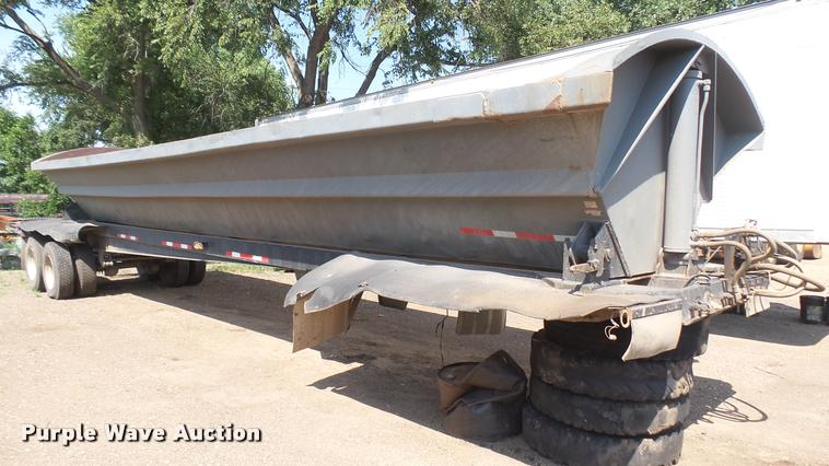 1997 Smithco SC2002 side dump trailer
