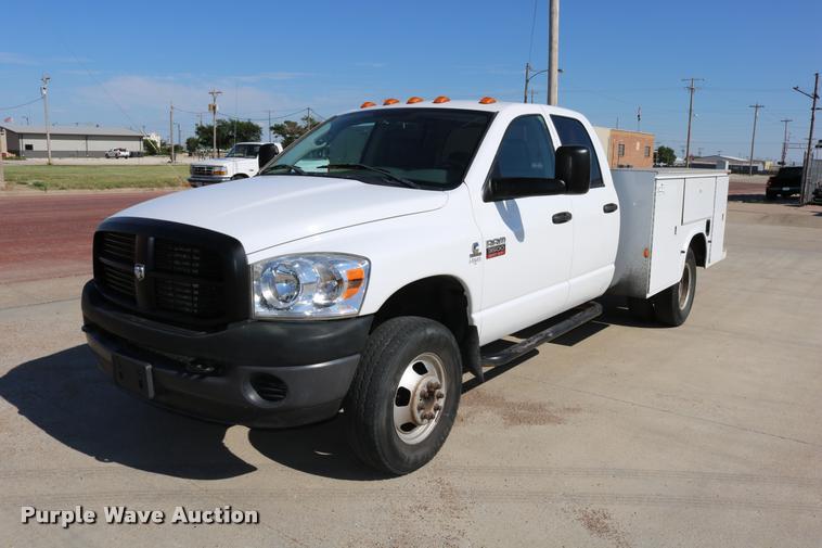 2008 Dodge Ram 3500 Quad Cab utility bed pickup truck