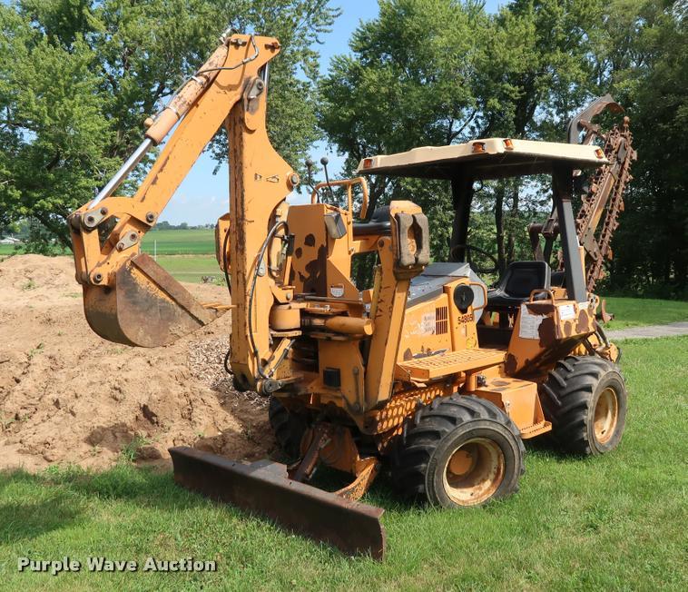 Case 580E trencher backhoe