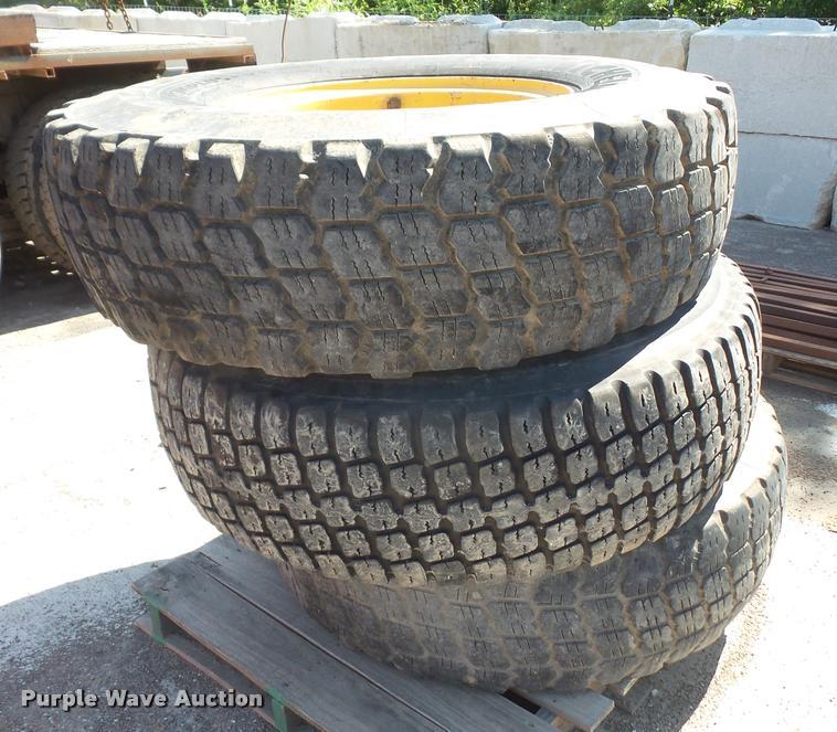 (3) used 14.00-24 motorgrader tires