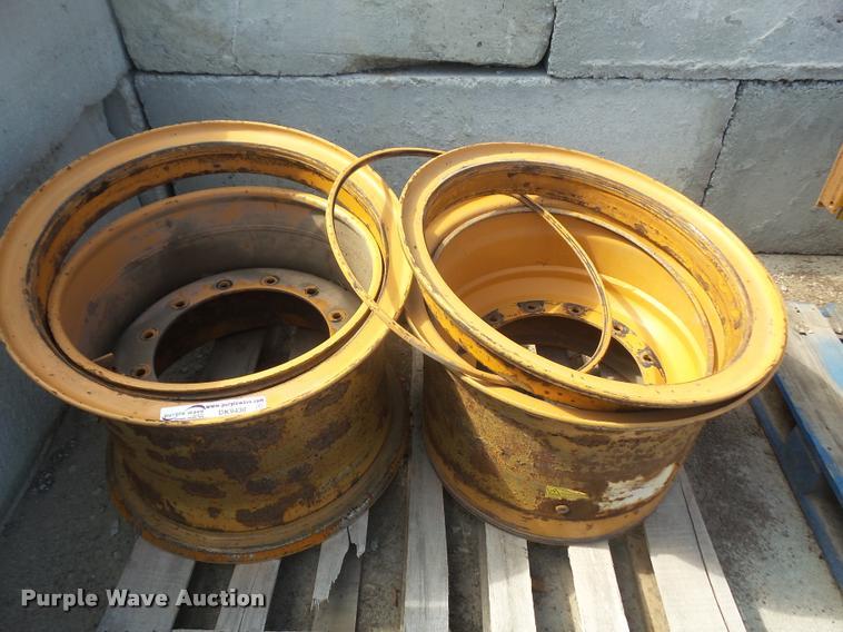 (2) wheel loader wheels