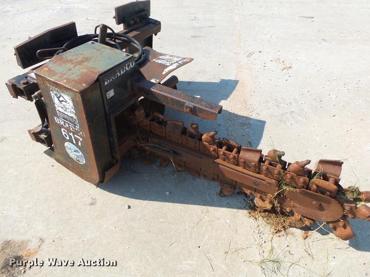 Bradco 617 skid steer trencher