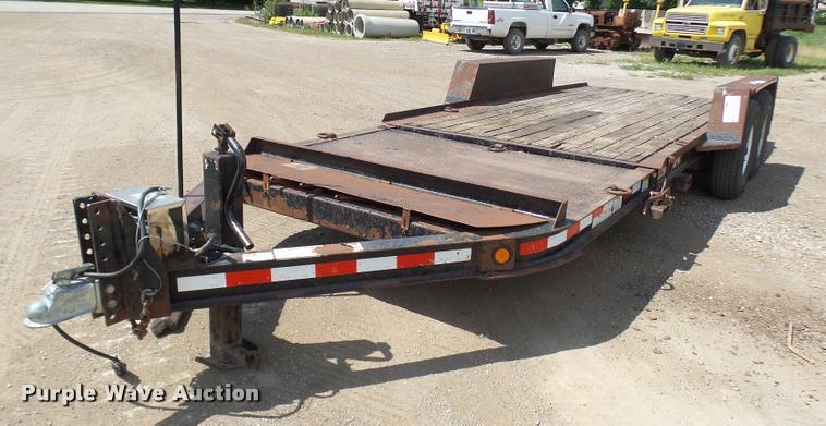 2002 Towmaster T-12-T tilt deck equipment trailer