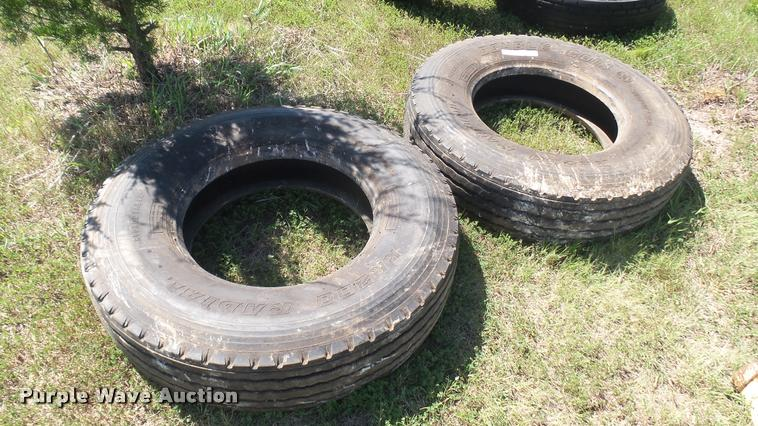 (2) 315/80R22.5 tires
