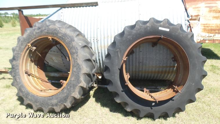 (2) 18.4-38 dual tires