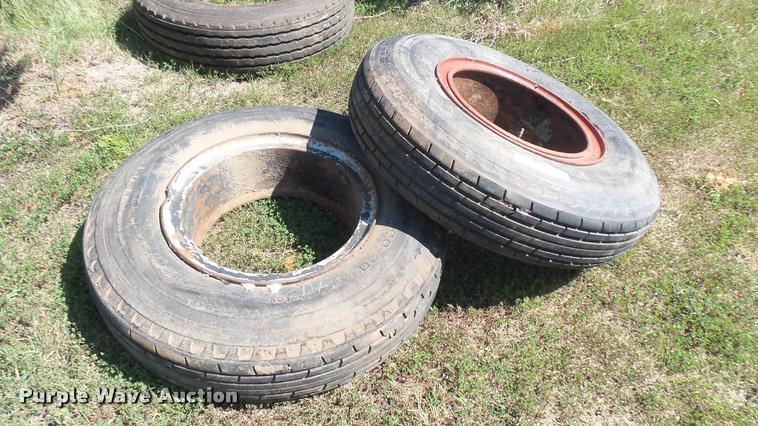 (2) 10.00-20 tires and wheels