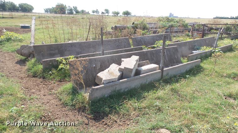 (4) concrete feed bunks