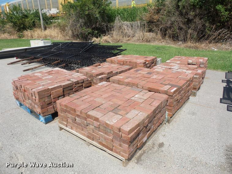 (8) pallets of bricks