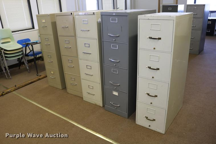 (5) four drawer filing cabinets