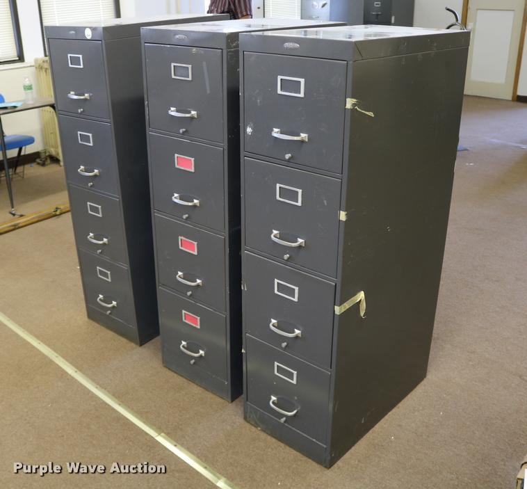 (3) Cole-Steel four drawer filing cabinets