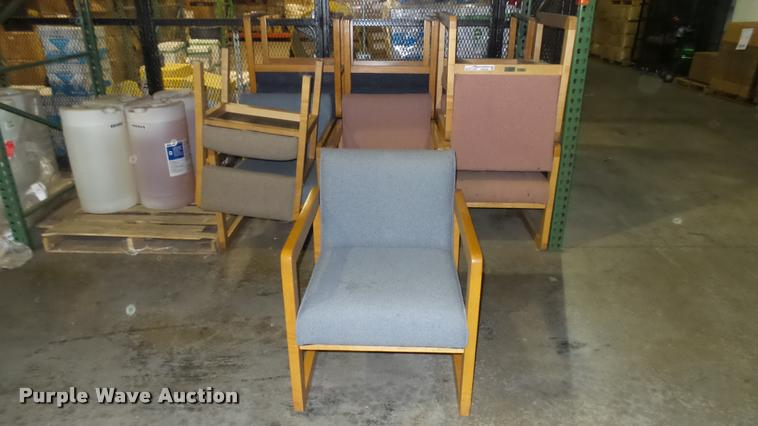 (12) waiting room chairs